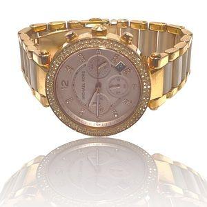 MICHAEL KORS Chronograph Parker Blush and Rose Gold Watch MK5896